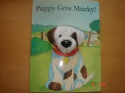 Furry Face Puppy Gets Mucky