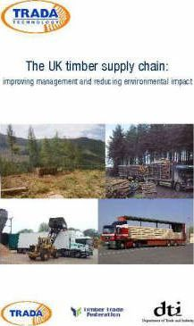 The UK Timber Supply Chain!