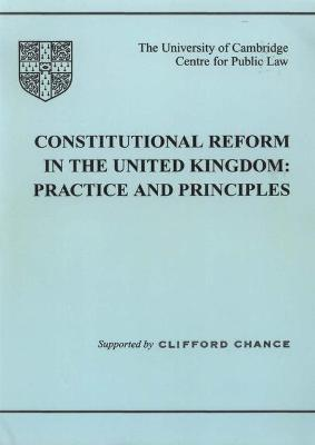 Constitutional Reform in the United Kingdom