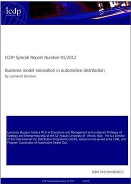ICDP Special Report Number 01/2012  Business Model Innovation in Automotive Distribution