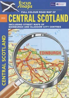Full Colour Road Map of Central Scotland