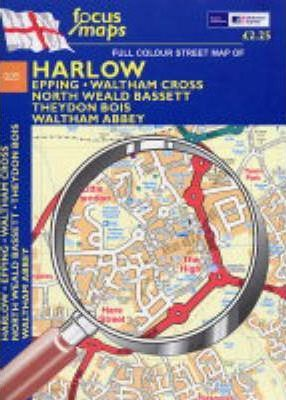 Full Colour Street Map of Harlow