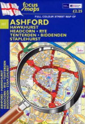 Full Colour Street Map of Ashford