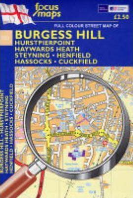 Full Colour Street Map of Burgess Hill