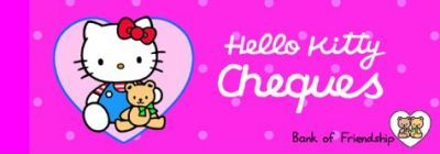 Hello Kitty Cheques