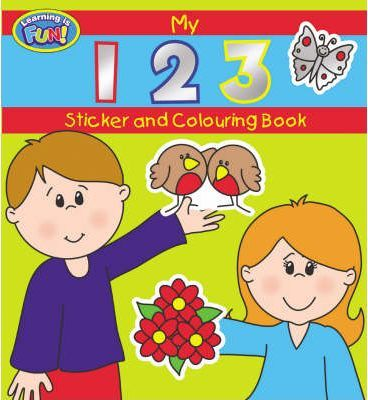 ABC/123 Sticker and Colouring Book