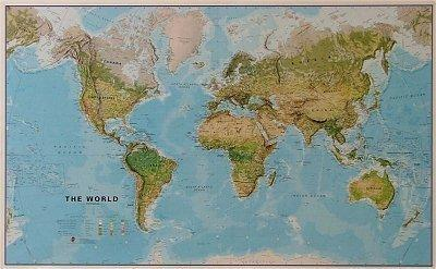 World Physical Terrain Map