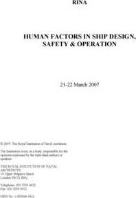 Human Factors in Ship Design, Safety and Operation