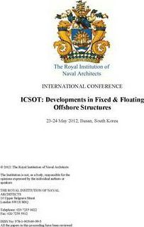 ICSOT: Developments in Fixed & Floating Offshore Structures, Korea 2012