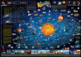 Solar system children's map flat laminated 2012