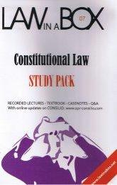 Constitutional Law in a Box: Study Pack