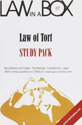 Tort Law in a Box: Study Pack