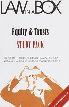 Equity and Trusts Law in a Box: Study Pack