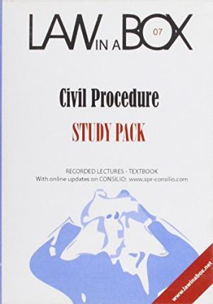 Litigation Law in a Box: Study Pack