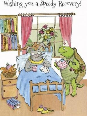 Get Well Soon - Hare and Tortoise