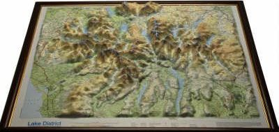 Lake District Raised Relief Map