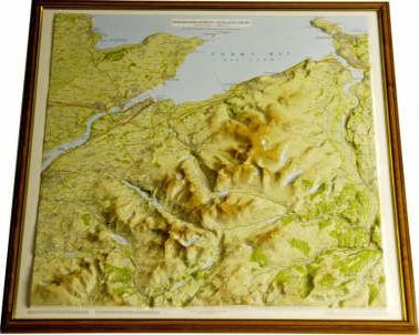Snowdonia North Raised Relief Map