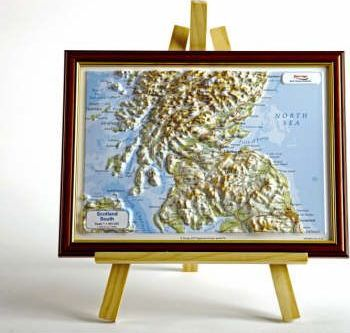 Scotland South Raised Relief Map