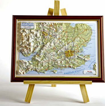 South East England Raised Relief Map