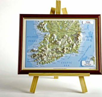 Ireland South Raised Relief Map