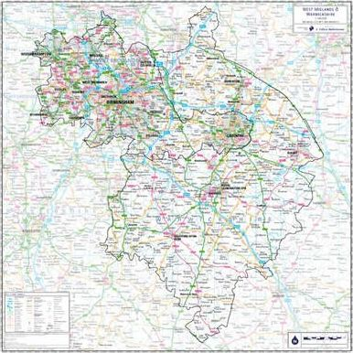 Warwickshire and West Midlands County Planning Map: No. 1A