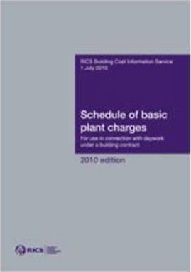 BCIS Schedule of Basic Plant Charges 2010