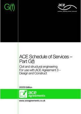 ACE Schedule of Services - Part G(f)