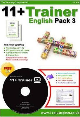 11 Plus Trainer English: Pack 3, v. 1