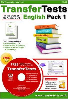 Transfer Tests English Multiple Choice Format: Transfer Test Northern Ireland Pack 1