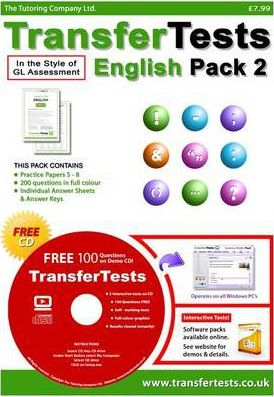 Transfer Tests English Multiple Choice Format: Transfer Test Northern Ireland Pack 2
