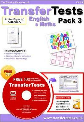 Transfer Tests English and Maths AQE Format: Pack 3