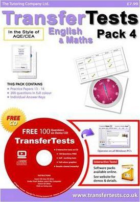 Transfer Tests English and Maths AQE Format: Transfer Test Northern Ireland Pack 4