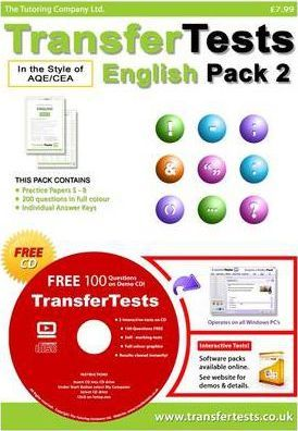Transfer Tests English AQE Style: Transfer Test Northern Ireland Pack 2
