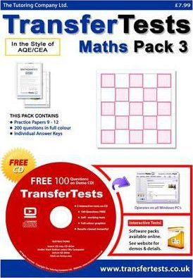 Transfer Tests Maths AQE Format: Transfer Test Northern Ireland Pack 3