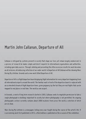 Departure of All: Pamphlet