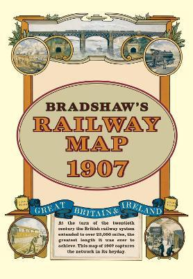 Bradshaw's Railway Folded Map 1907