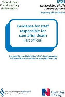 Guidance for Staff Responsible for Care After Death