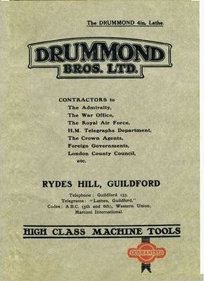 The Drummond 4in: Lathe