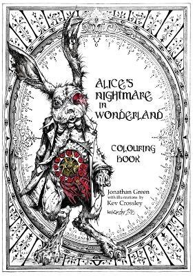 Alice's Nightmare in Wonderland Colouring Book Cover Image