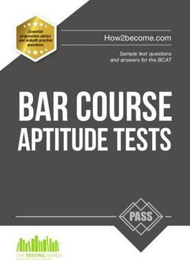 Bar Course Aptitude Tests: Sample Test Questions and Answers