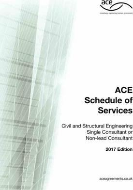 ACE Schedule of Services - Civil & Structural Engineering Single Consultant or Non-Lead Consultant