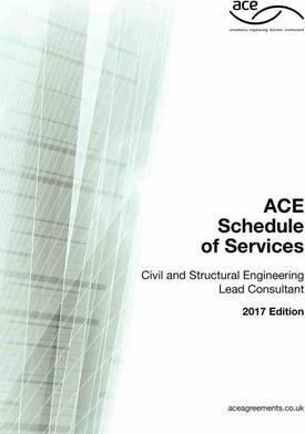 ACE Schedule of Services Civil and Structural Engineering Lead Consultant