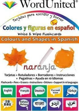 Colours and Shapes in Spanish : Write & Wipe Flashcards