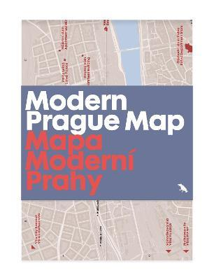 Modern Prague Map: 20th century architecture guide map