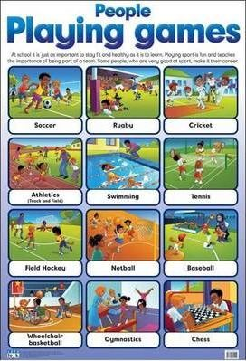 People Playing Games: Wall Chart