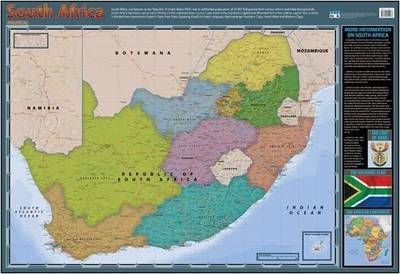 South Africa Political: Wall Chart