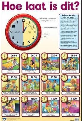 Hoe laat is dit / Tell the time: Wall chart