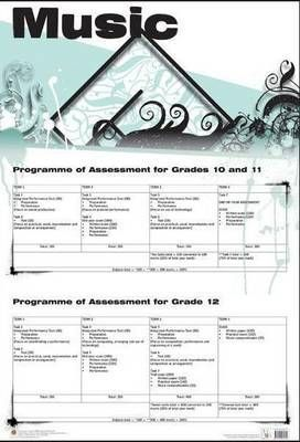 Music - programme of assessment: Gr 10 - 12: Wall chart
