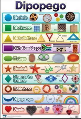 Dipogego / Shapes: Wall chart