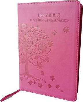 NIV Standard Pink Bible Tree Design